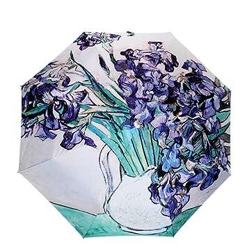 Van Gogh lirios MyLifeUNIT Original plegable paraguas compacto óleo