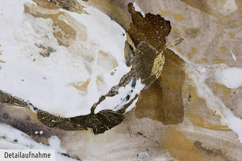 KunstLoft/® Dipinto Acrilico Saggezza della Terra 120x90cm Quadro da Parete Dipinto in Acrilico Arte Moderna in Un Pezzo Tele Originali manufatte XXL Astratto Beige Marrone Bianco Marrone