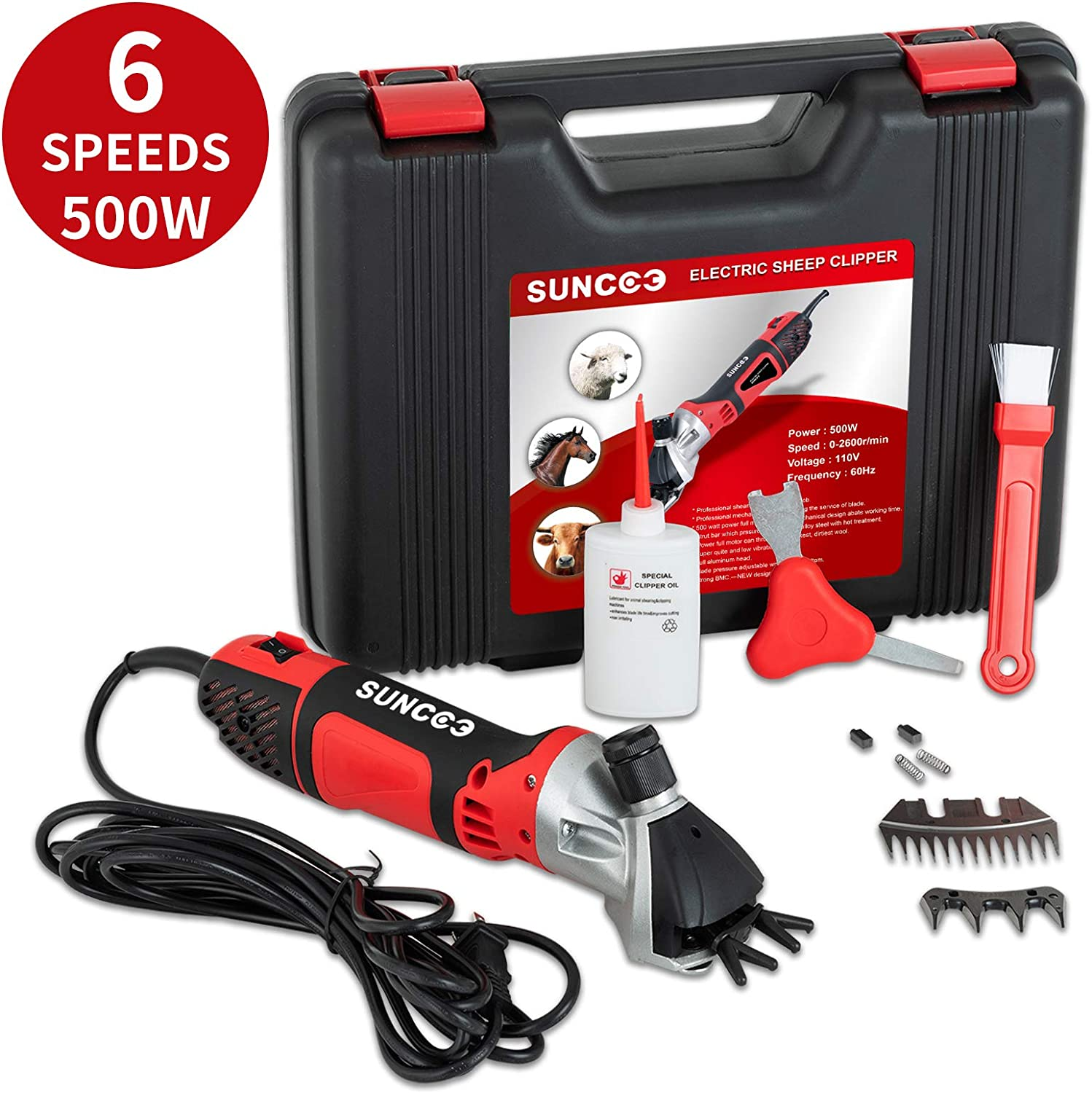 900W Electric Shears Shearing Clipper Sheep Machine Animal Goat Grooming Kit US