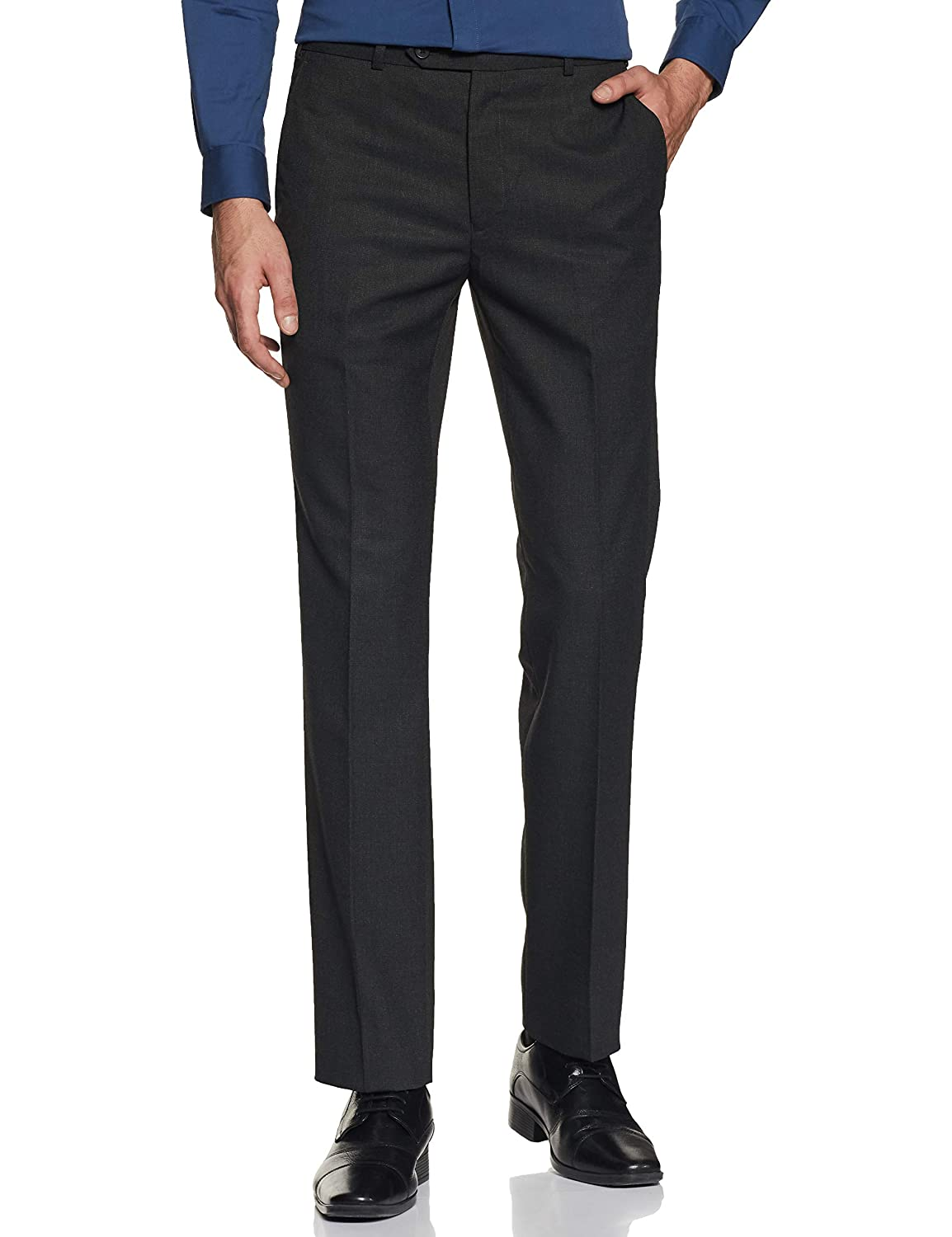 Raymond Men's Straight Fit Formal Trousers- Size 36