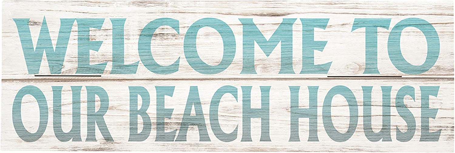 """Rustic Pallet Art Welcome to Our Beach House 18"""" x 6"""" Wood Pallet Design Wall Art Sign - Hand Made by Amish"""