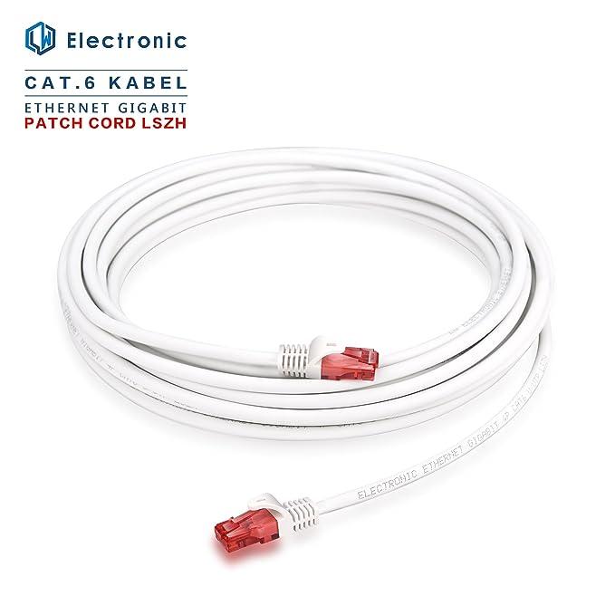 10m - CAT.6 LSZH Ethernet Gigabit Lan Network Cable 10m (RJ45), 10/100 / 1000Mbit / s, cable de conexión,compatible con CAT.5 / CAT.5e / CAT.7: Amazon.es: ...