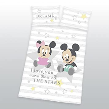 Disney Minnie Mickey Mouse Baby Bettwäsche 40 X 60 Cm 100 X 135 Cm