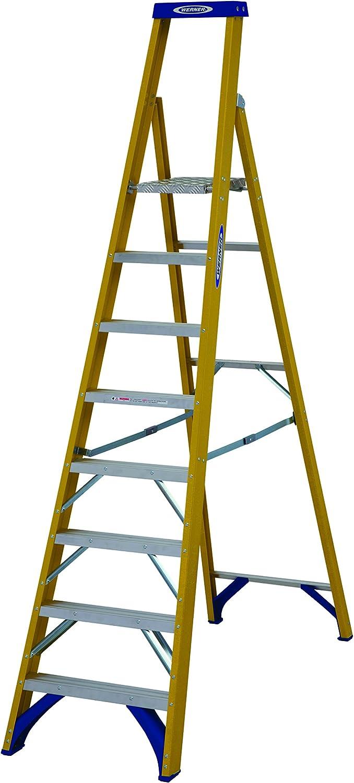 Werner 71708 8 peldaños de fibra de vidrio Comercio – Escalera con plataforma (Amarillo: Amazon.es: Bricolaje y herramientas