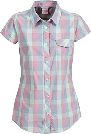Trespass Womens/Ladies Eriko Short Sleeve Checked Casual Button Shirt
