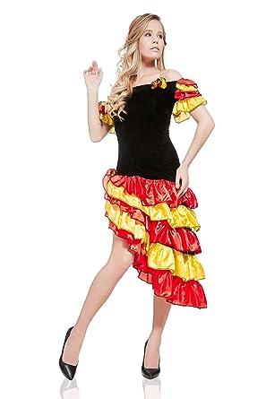 Gypsy Esmeralda Spanish Flamenco Senorita Latina DressUp Halloween Costume  sc 1 st  Amazon.com & Amazon.com: Womenu0027s Gypsy Esmeralda Spanish Flamenco Dancer Hot ...