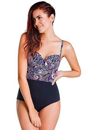 81fe7acec1 CHAMELA Swimwear Body Molding One Piece Bathing Suit Ref: CHA22625 at  Amazon Women's Clothing store:
