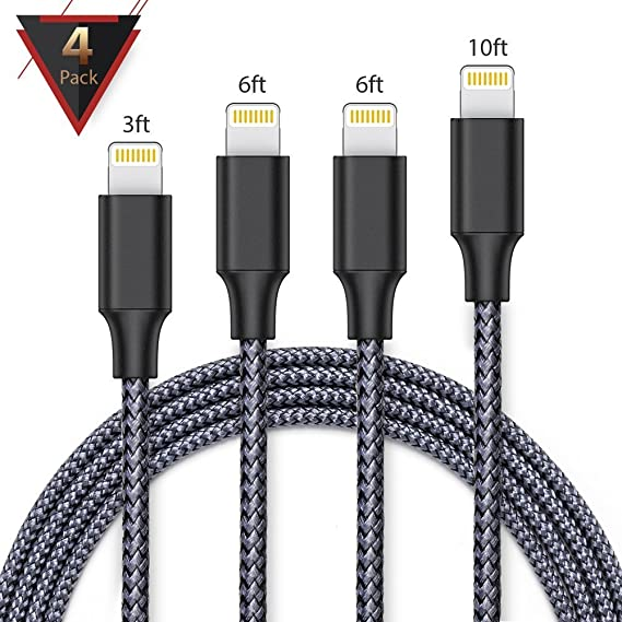 Amazon.com: iPhone Charger,FAMMU Lightning Cable, 4Pack 3FT ...