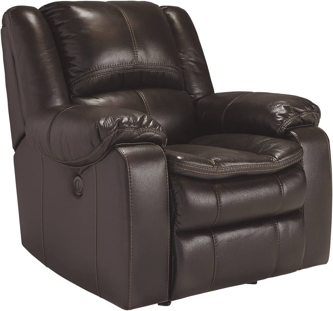 Signature Design by Ashley Long Knight Collection Recliner, Brown, Manual