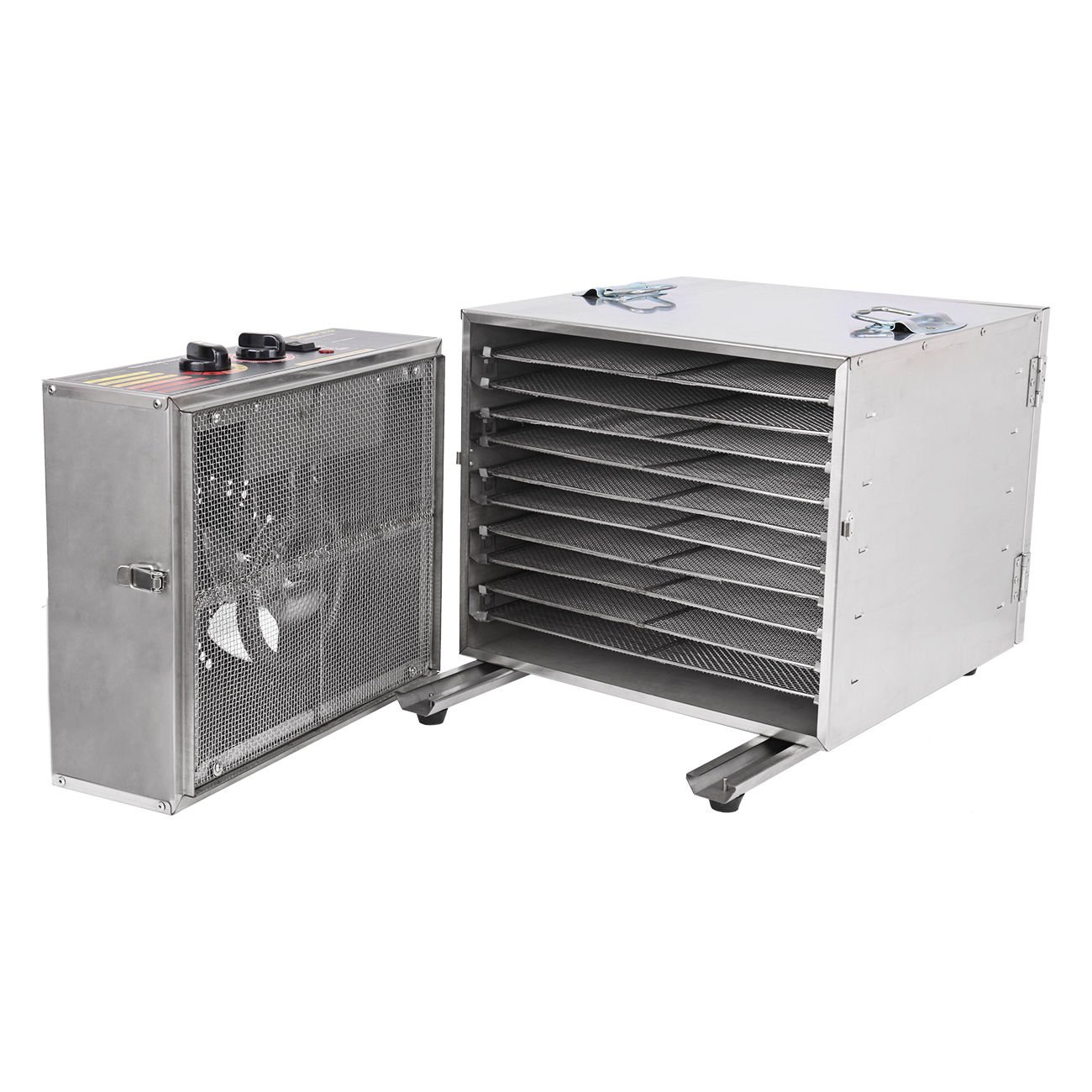Ridgeyard 1000W Dehydrator Commercial Grade Stainless Steel Digital Food Dehydrator Jerky Dryer 10 Trays 158 Degree Fahrenheit with 15 Hour Timer by Ridgeyard (Image #3)