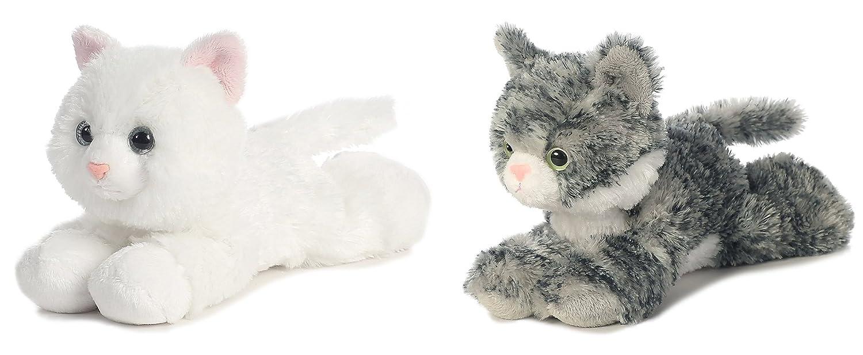 Aurora 31265 31713 Bundle Of 2 7 5 Floppy Beanbag Cat Stuffed Animals Lily Sugar Multicolor