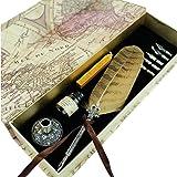 Penna d'Oca da Scrittura Antica Piuma di Civetta con Pennino Metallico Penna d'Oca PA-10