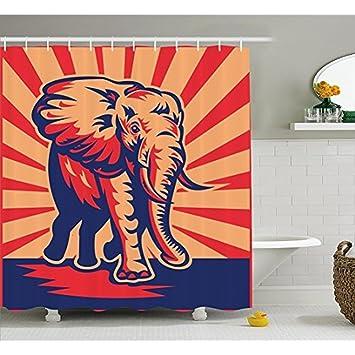 H&S Retro Poster Einrichtung Duschvorhang, Pop Art lustig ...