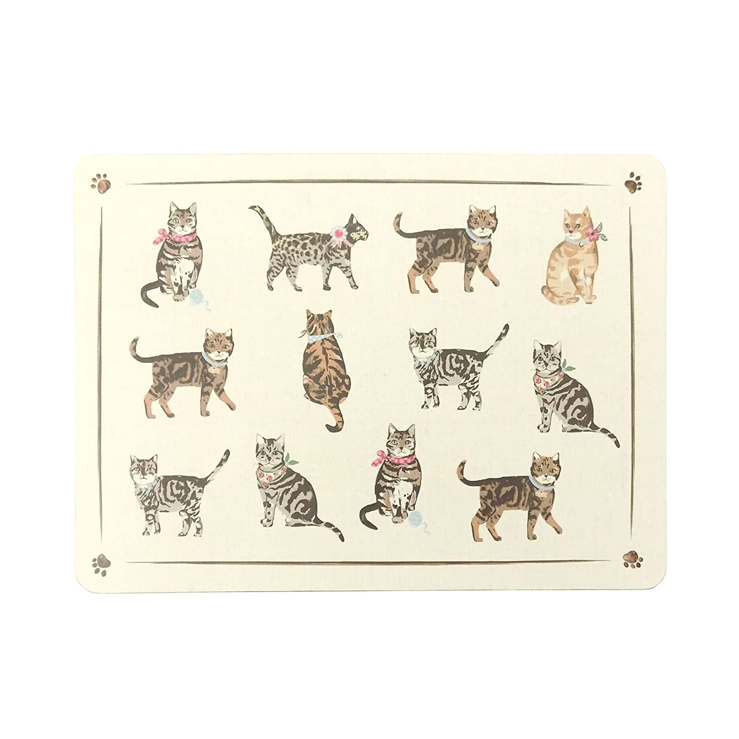 4 X LUXURY DINING PLACEMATS COLOURFUL TABBY TOM GINGER CATS KITTENS CORK BACKED Cats Unique