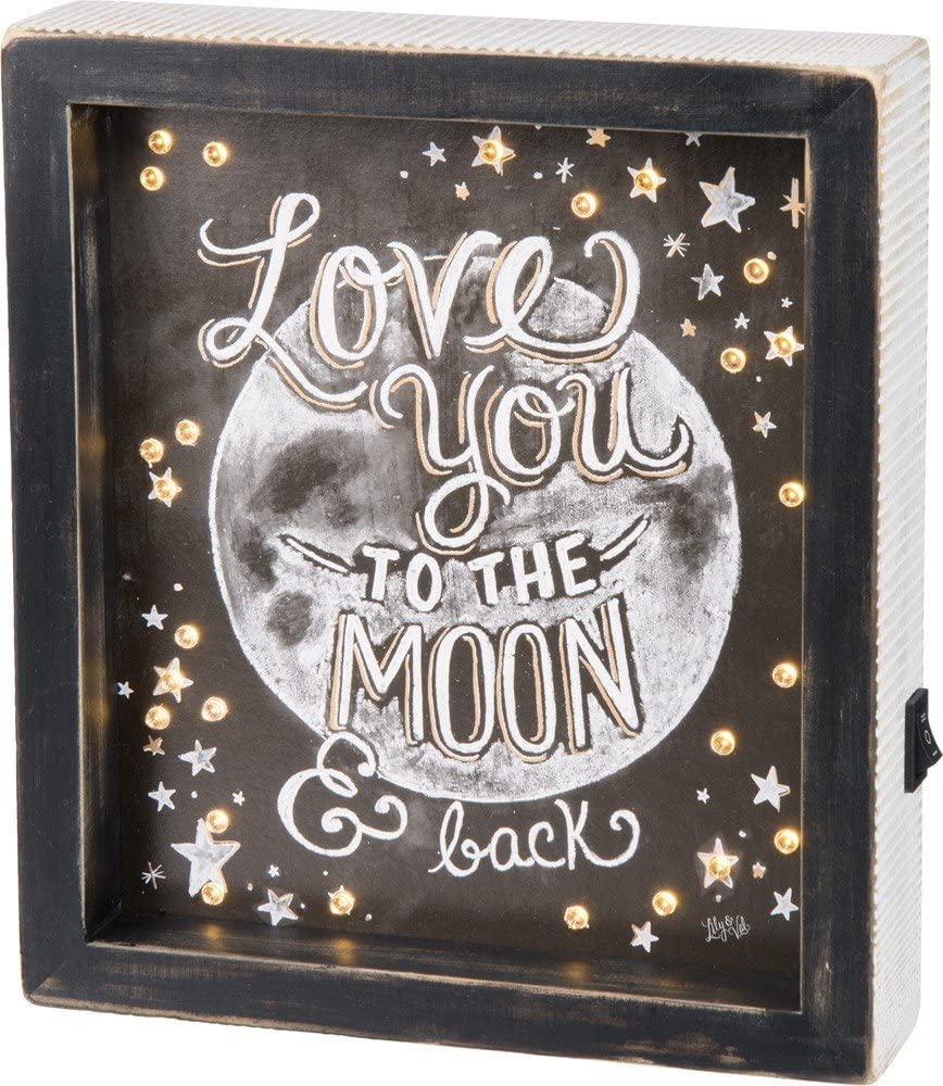 Primitives by Kathy LED Chalk Art Box Sign, 8 x 9-Inches