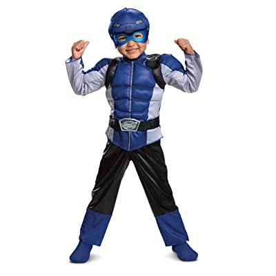 Disguise Blue Ranger Beast Morpher Toddler Boys' Muscle Costume: Toys & Games