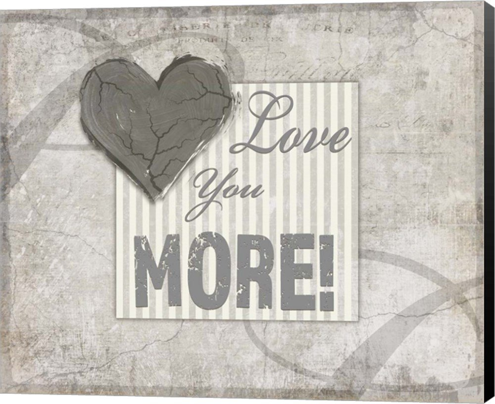 Decorative Pattern Love You More by LightBoxJournal Canvas Art Wall Picture, Museum Wrapped with Black Sides, 24 x 20 inches