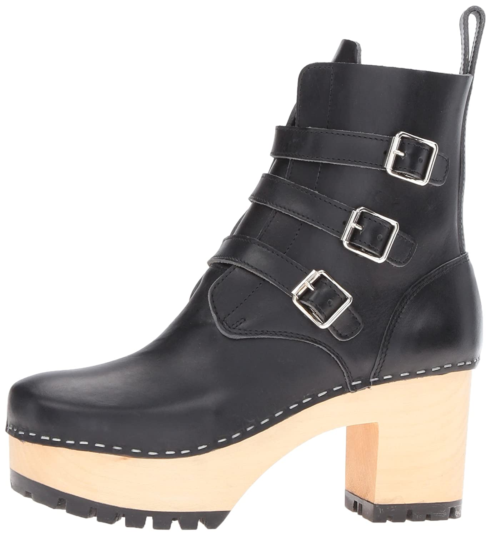 swedish hasbeens Women's Buckle Boot B01KYN9ZAS 10 B(M) US Black