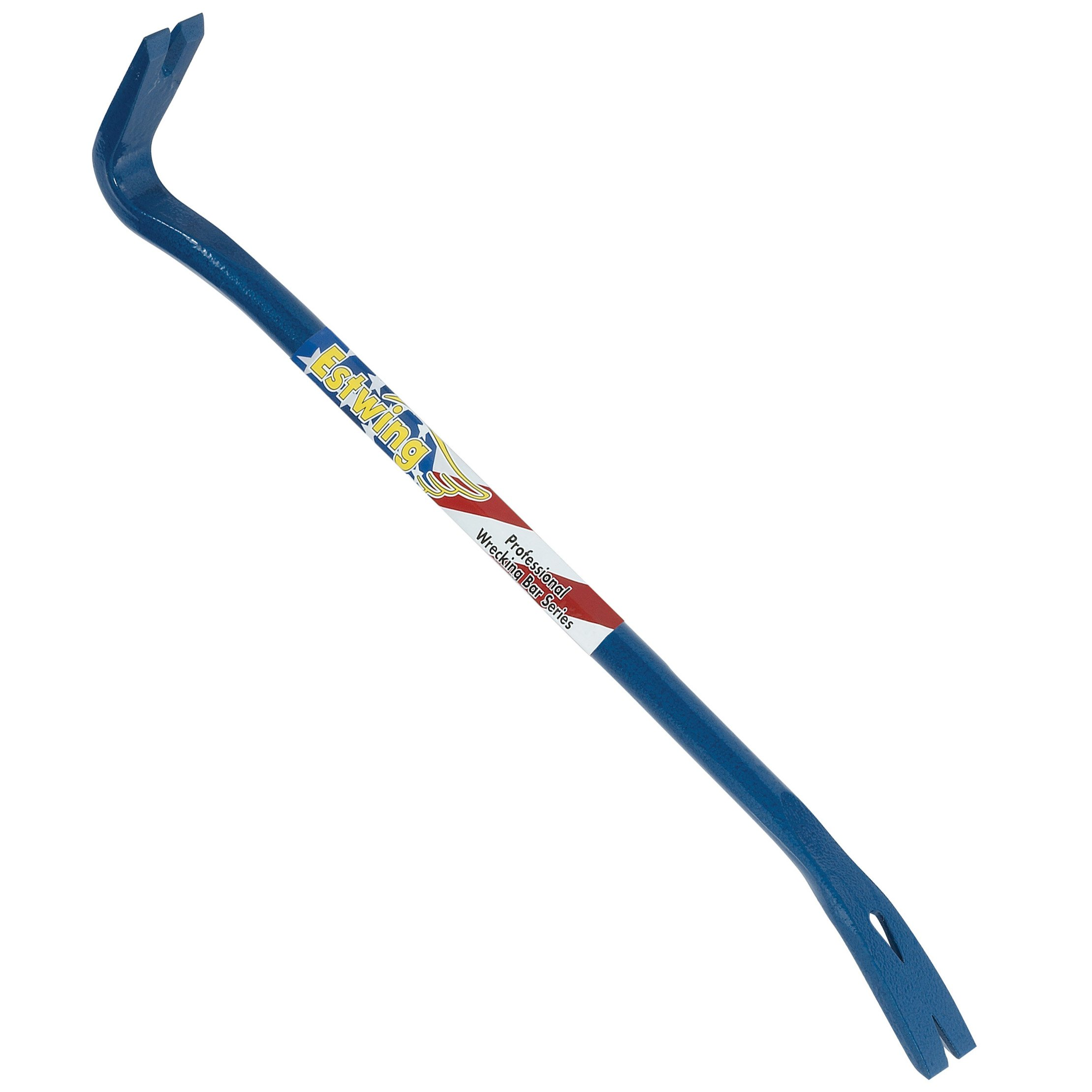 Estwing Gooseneck Wrecking Bar PRO - 24'' Pry Bar with Angled Chisel End & Forged Steel Construction - EWB-24PS