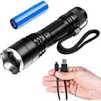 Akale Ak-ZoomTorch LED Water-Resistant Handheld Flashlight IP65