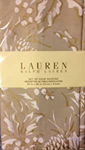 Lauren Ralph Lauren Home Bowen Natural Set of 4 Napkins