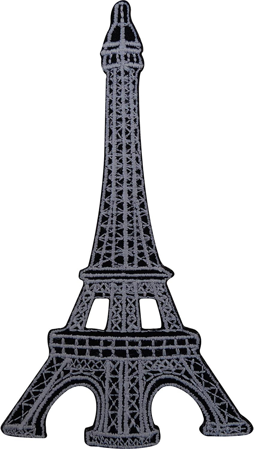 Sew On French Paris France Souvenir Eiffel Tower Patch Embroidered Badge Iron