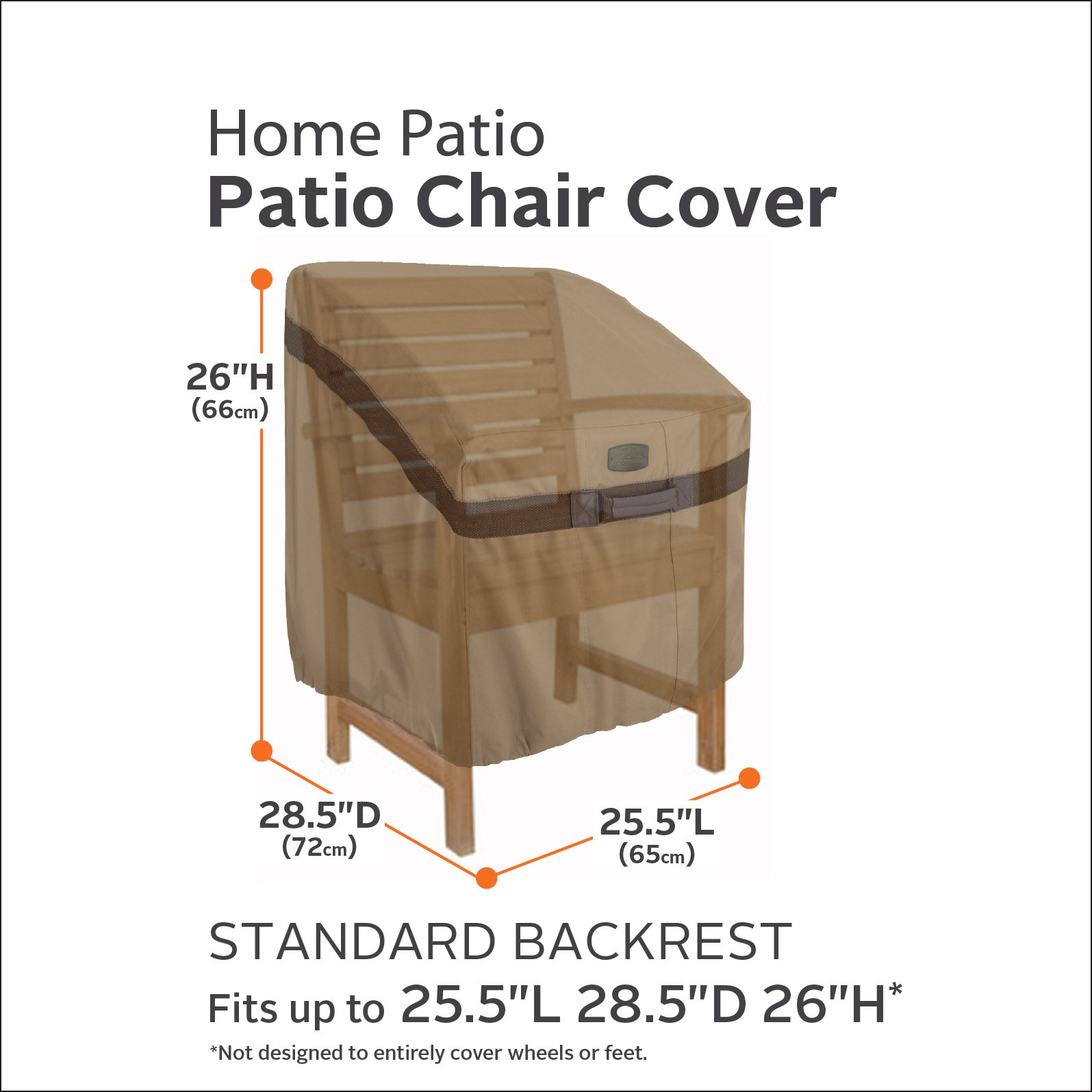 Classic Accessories Hickory Heavy Duty Standard Patio Chair Cover - Durable and Water Resistant Patio Set Cover (55-208-012401-EC) by Classic Accessories (Image #2)