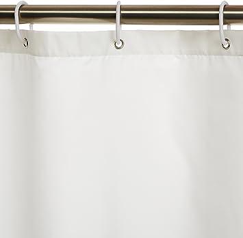 wasserabweisend Polyester 180 x 200 cm Wei/ß Basics Duschvorhang mit verst/ärktem Saum