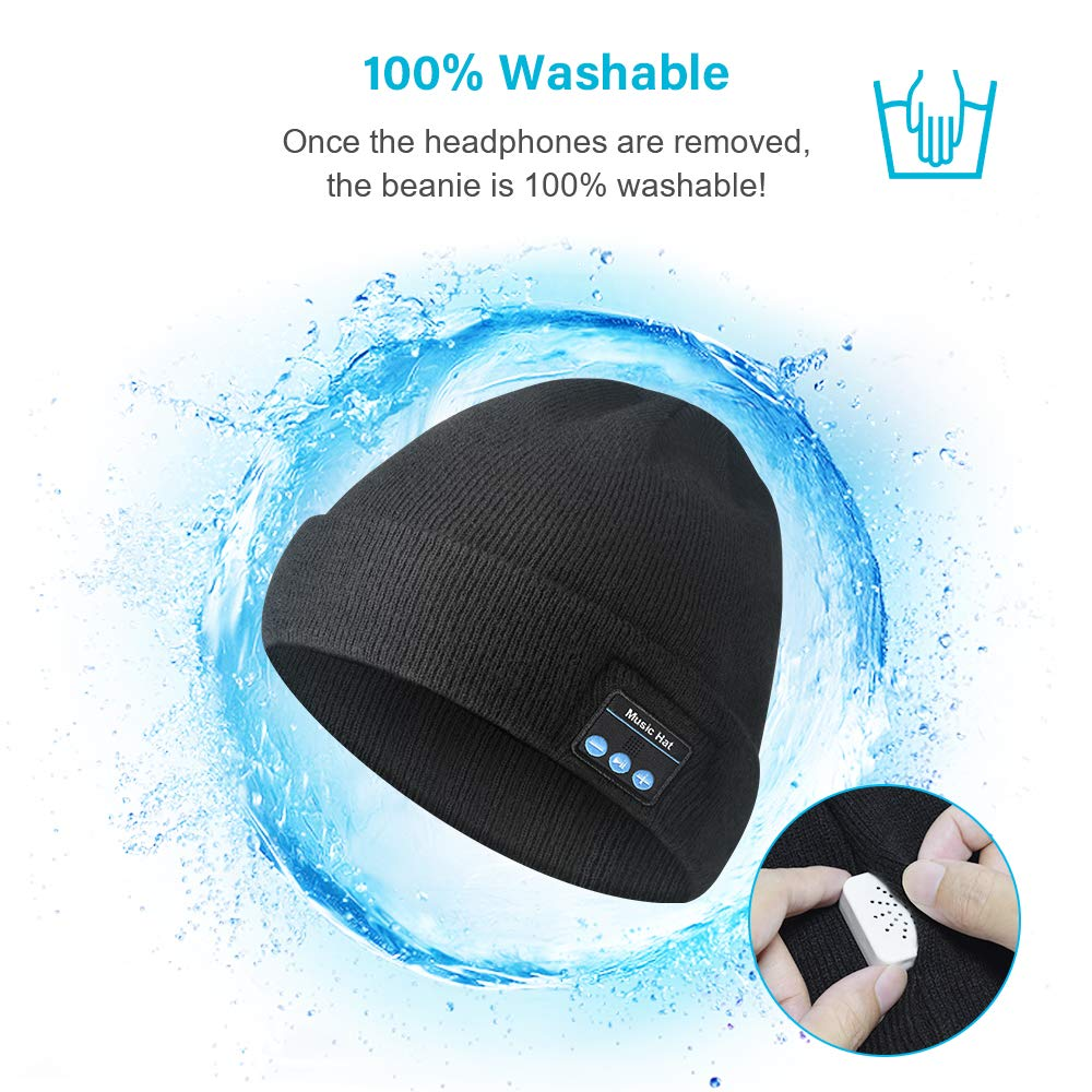 HANPURE Bluetooth Beanie Hat Auriculares Inal/ámbricos Altavoces Incorporados con USB Recargable para Deportes Regalo para Hombres y Mujeres Bluetooth 5.0 Music Running Hat Actualizado