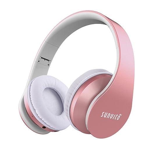 374 opinioni per Sunvito 4 in 1 Cuffia Bluetooth Pieghevole Wireless Auricolari con Mic,Lettore