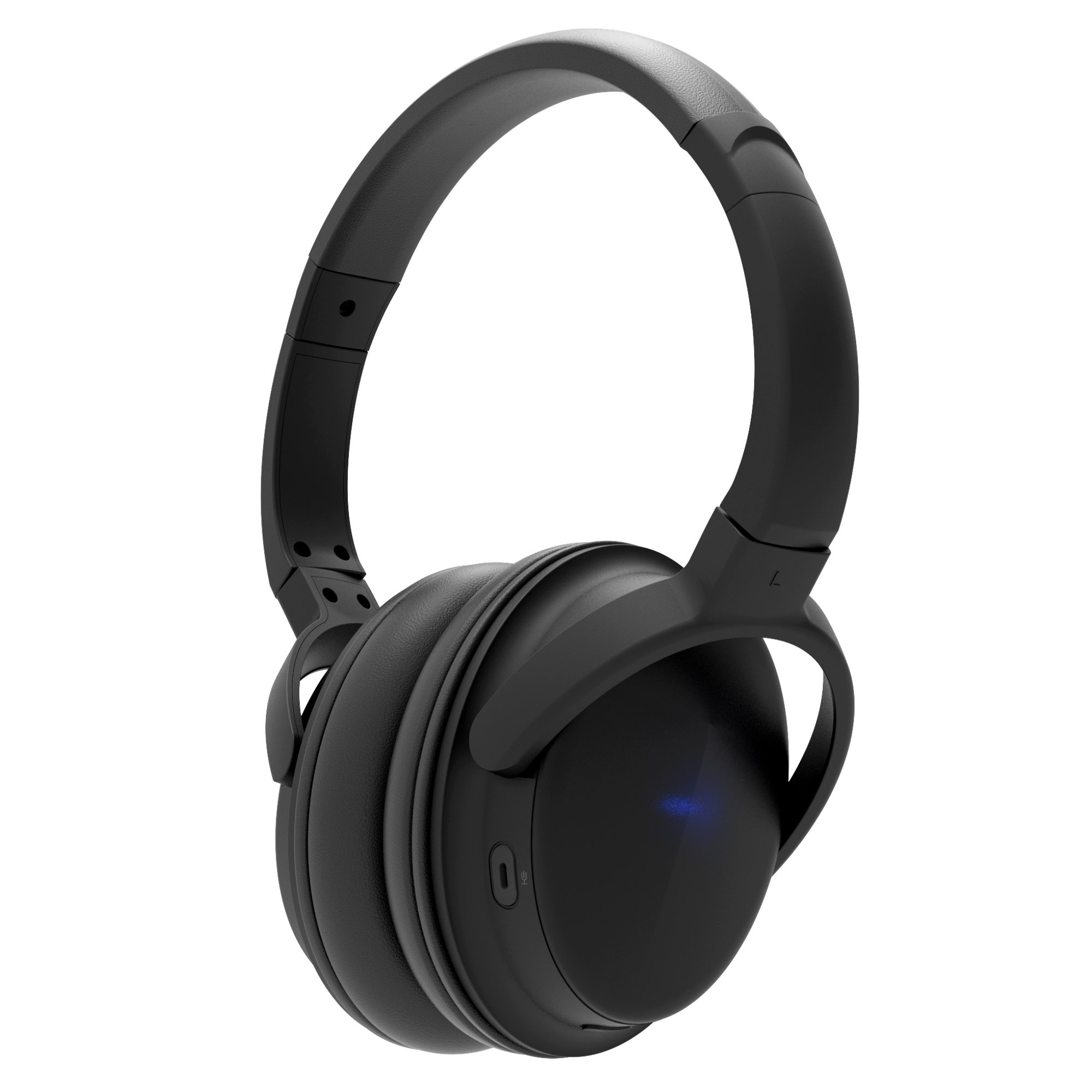 ATECH Wireless Headphones Over Ear Hi-Fi Stereo Lightweight Wire-Free Headset, 16-Hour Play, 40mm Driver for Deep Bass and Clear Mid Tones with Built-in Mic for Smartphones, Laptops, and TV (Black)