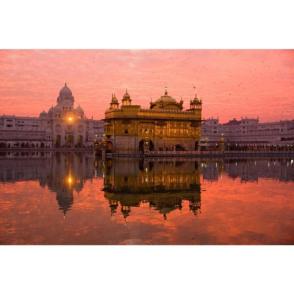 PB Golden Temple Amritsar India Unframed Canvas Painting 27 x 18inch
