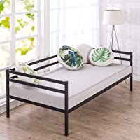 Zinus Marie Metal Single Daybed |Strong Steel Frame Indoor Split-Rail Day Bed Frame