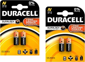 Duracell MN9100/E90/LR1 Medical Battery 1.5 V Card 2 Size N - 2 Count, 2 Pack - 4 Batteries Total