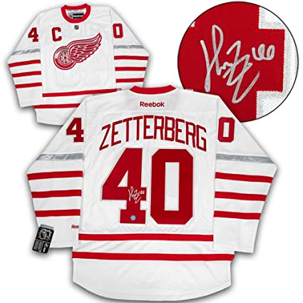 da53aa69a38 Image Unavailable. Image not available for. Color  Signed Henrik Zetterberg  Jersey - 2017 Centennial Classic Reebok - Autographed NHL Jerseys
