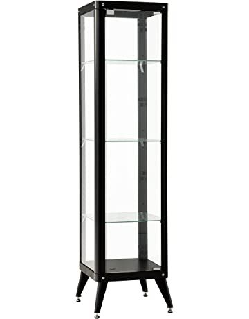 Metal glass cabinet Apothecary Curio Furniture 247 Tall Glass Metal Framed Cabinet with Glass Shelves Antiquechinesefurniturecom Amazoncouk Glass Cabinets Home Kitchen