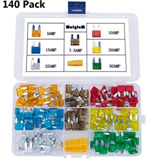 15 x Car Auto Mini Blade Fuse 5 7.5 10 15 20 25 30 AMP Assorted Packet
