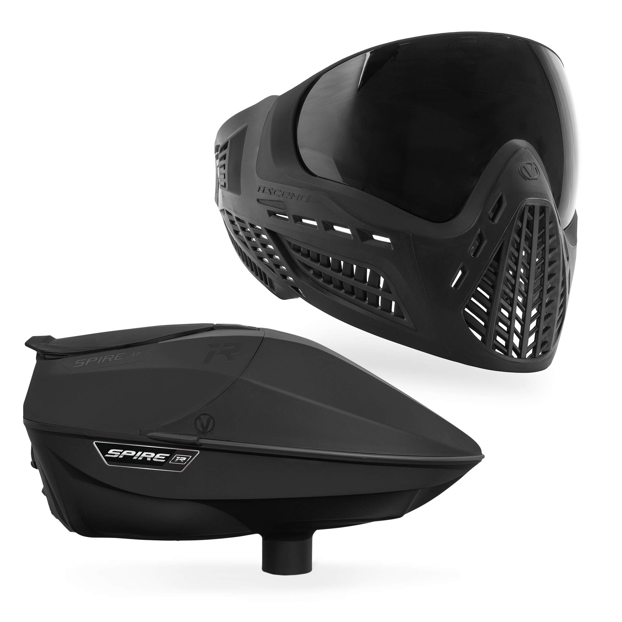 Virtue Spire IR Electronic Paintball Loader and VIO Ascend Mask Bundle - Black by Virtue Paintball