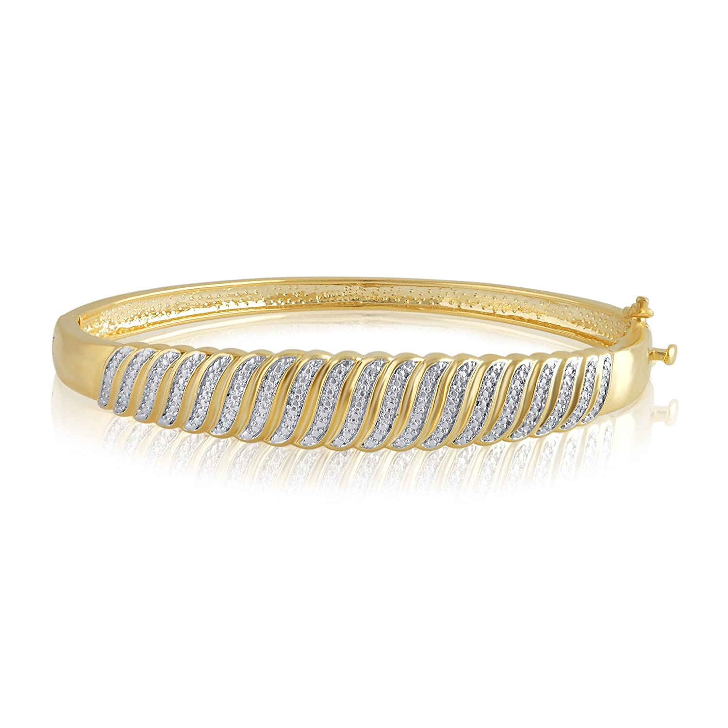 Diamond Accent Single Row Bangle