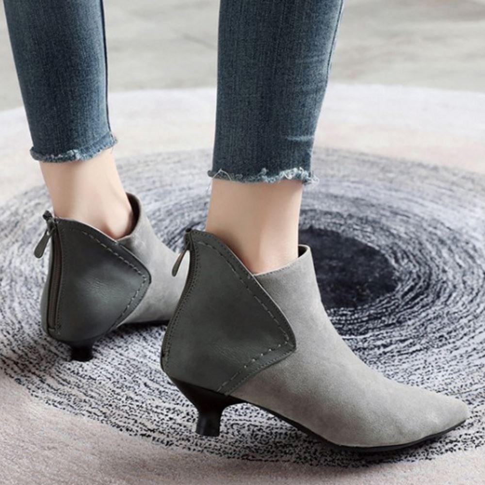 Melady Fashion Women Ankle Boots Zipper