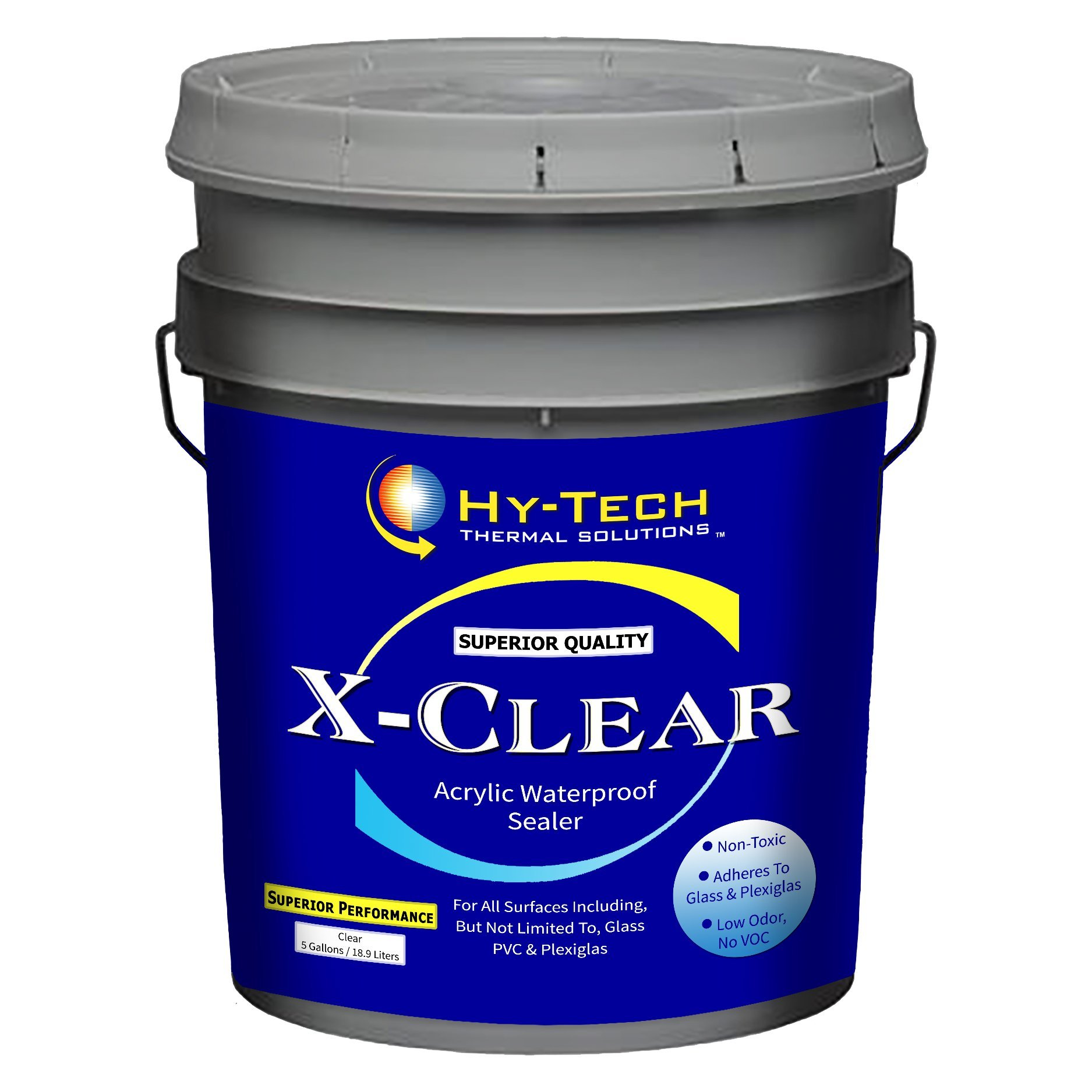 X-Clear, Clear Acrylic Sealer - 5 Gallon by Hy-Tech Thermal Solutions