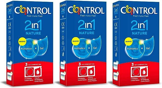 CONTROL Kit de 3 cajas de preservativos 2in1 Nature. Cada caja ...