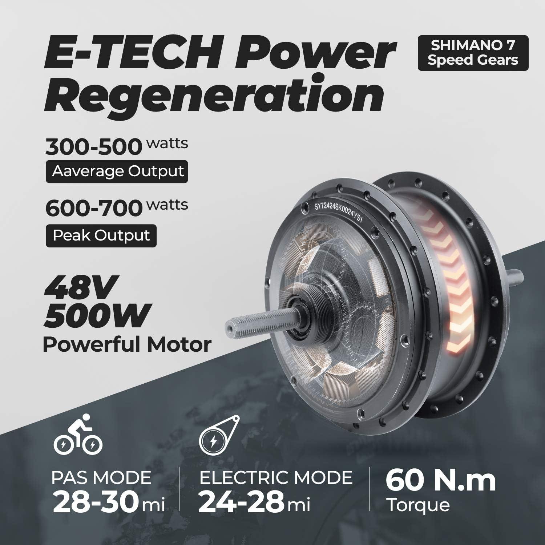 electric bike rear hub motor demonstration