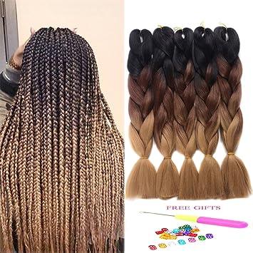 Amazon Com 5packs Of Jumbo Braiding Hair 100 Kanekalon Fiber