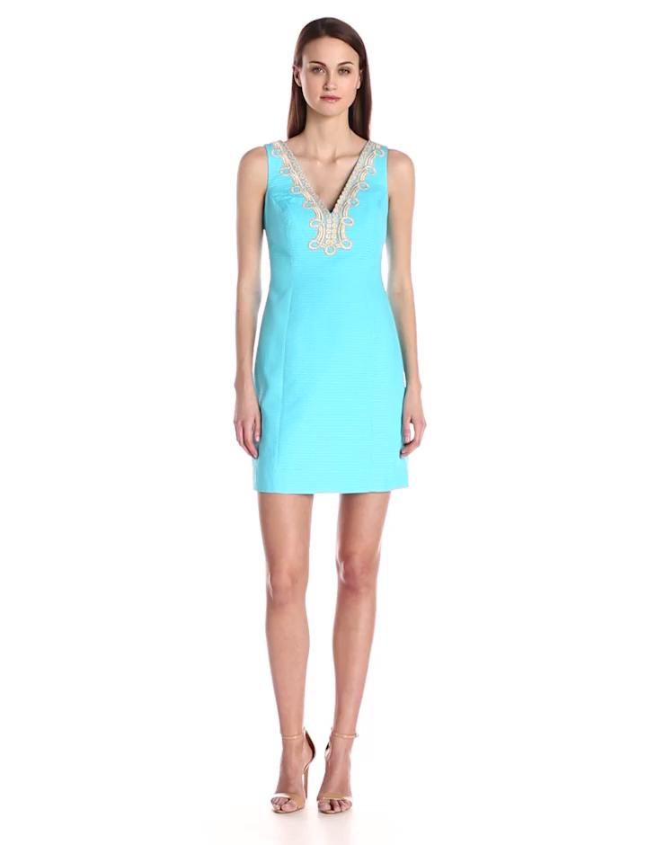 Lilly Pulitzer Women's Bentley Shift Dress, Searulean Blue, 4,Searulean Blue,4