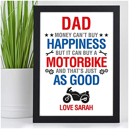 PERSONALISED Motorbike Biker Bike Christmas Birthday Gifts For Dad Daddy Grandad Men Fathers Day