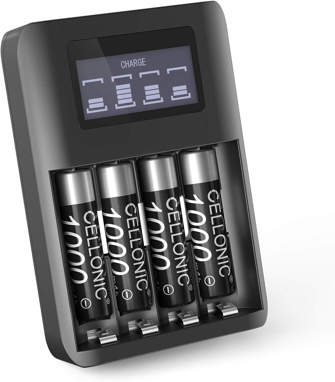 subtel® Batería Premium Compatible con Panasonic KX-TG6821, KX-TGK220, KX-TG6811, KX-TG6822, KX-TG6521, KX-TGQ500, KX-TGQ200, KX-TG6522, KX-TGE220, 4x1000mAh + Cargador Pila Repuesto bateria: Amazon.es: Electrónica