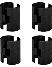 """DuraSteel Wire Shelving Shelf Lock Clips/Shelving Sleeves - Fits with Thunder Group, Alera, Honey Can Do, Eagle, Regency, Metro and more - For 1"""" Post, Plastic, Black, 4 Pairs"""