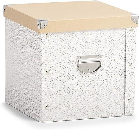 Caja de cartón para bolas de Navidad., blanco y dorado, ca. 30 x 30 x 29 cm: Amazon.es: Hogar