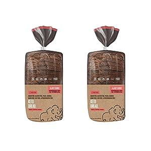 Base Culture Keto Bread | Original, 100% Paleo, Gluten Free, Grain Free, Non-GMO, Dairy Free, Soy Free and Kosher | 16oz Loaf (2 Count)